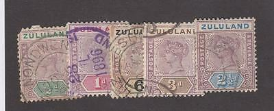 Zululand # 15-19 Q/victoria Issues Cat Value $47.25