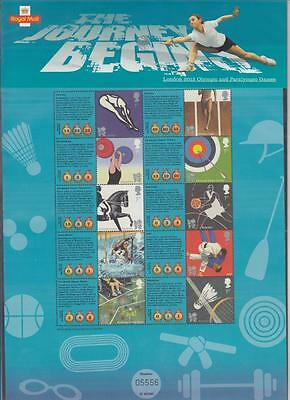 GB 2012 London Olympic Paralympic Games Commemorative Sheet CSS-007 JOURNEY BEGI