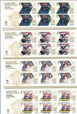Gb Mnh London Olympic Games 2012 Various Gold Medalists Superb