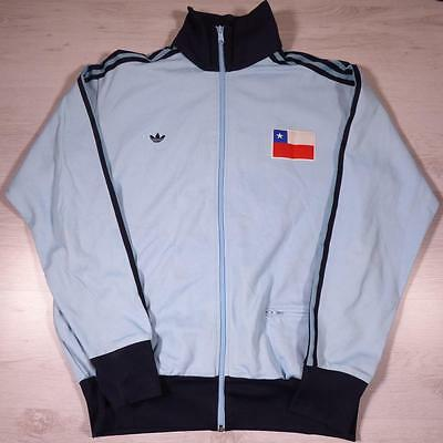 Mens ADIDAS Vintage Chile Flag Polyester Tracksuit Top Jacket XL #B2397