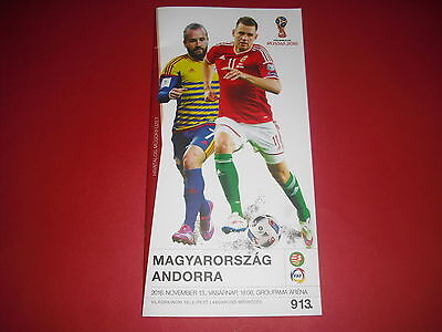 2016 World Cup Qualifier Hungary V Andorra