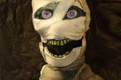 Mummy Ventriloquist Dummy Puppet Zombie Doll Horror Prop Cool Collectible