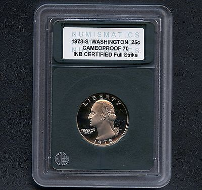1978 'S' USA Washington Quarter Dollar INB Slab MS 70