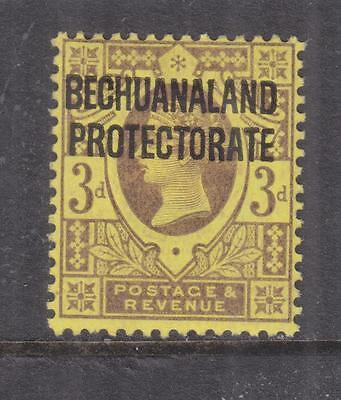 BECHUANALAND PROTECTORATE, 1897 QV 3d. Purple on Yellow, slight paper on reverse
