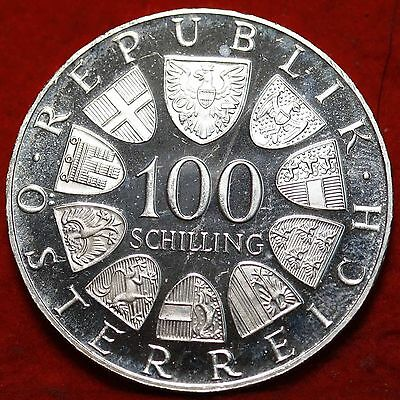 Uncirculated 1976 Austria 100 Schilling Silver Foreign Coin Free S/H