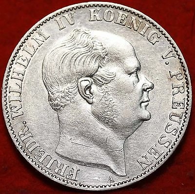 1859A German State Prussia Thaler silver Foreign Coin Free S/H