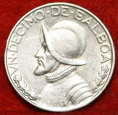 1933 Panama 1/10  Balboa Silver Foreign Coin Free S/H