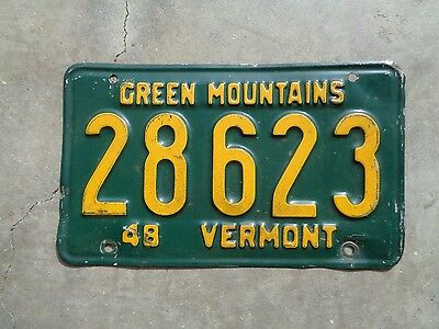 Vermont 1948 license plate   #   28623