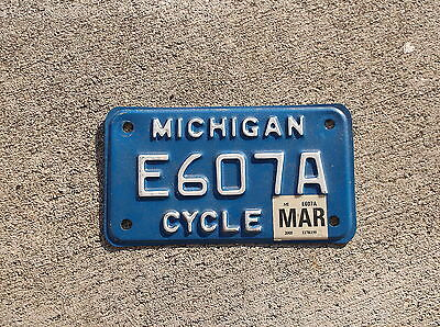 Michigan 2005  motorcycle  License Plate  # E607A