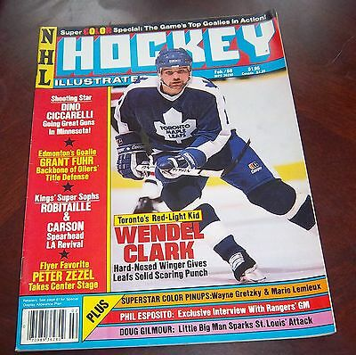 Hockey illustrated February 1988 Wendel Clarke  with color inserts