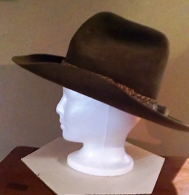 RESISTOL Vintage Stagecoach Bullwhacker Western Hat 7-3/8 3 signatures Williams