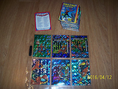 1992 Marvel Spiderman 30th Anniversary Card set Base plus all 6 Prism cards