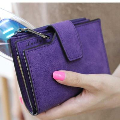 Women Leather Grind Magic Bifold Wallet Card Holder Clutch Wallet Handbag Purse