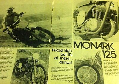 5 Pages Road Test Of 1974 Monark 125 Motocross  Motorcycle