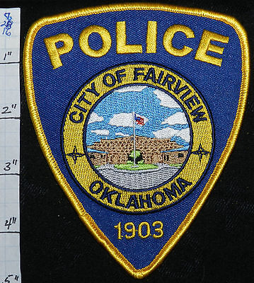 Oklahoma, Fairview Police Dept Patch