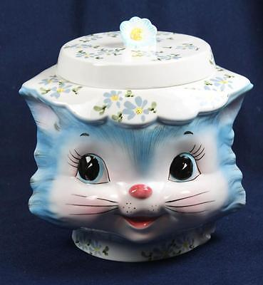 Lefton China Miss Priss Covered Cookie Jar Puuuuurfectly Delightful