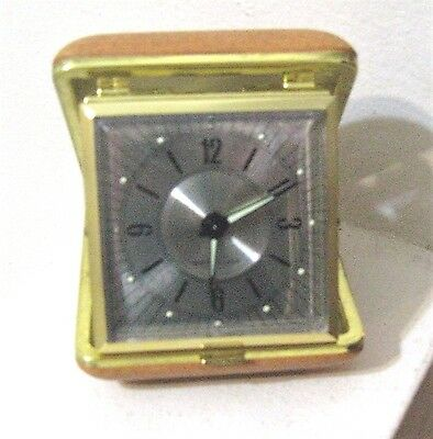 Vintage Westclox Folding Travel Alarm Clock, Works well! Silver Face
