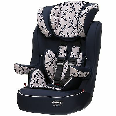 Obaby Group 1-2-3 High Back Booster Car Seat Height Adjustable - Black :Argos