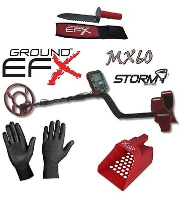 Metal Detector Ground Efx Storm Mx 60 New 2017 + Accessory Digging + Sieve