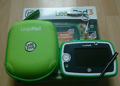 Leapfrog Leappad 3 in green with case - original box