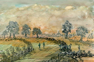 SEPIA DAYS - original watercolour painting by Adrian Appleby