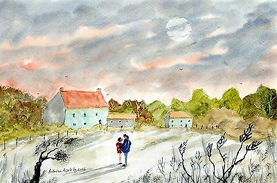 A MOMENT IN TIME  -  Original watercolour painting by Adrian Appleby