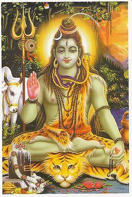 (96864) Postcard India Hindu Lord Shiva - un-posted