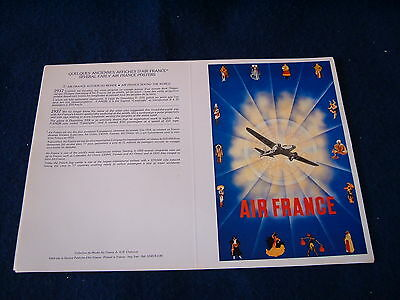Vintage Air France Repro Poster Design Round The World Dewoitine Aircraft