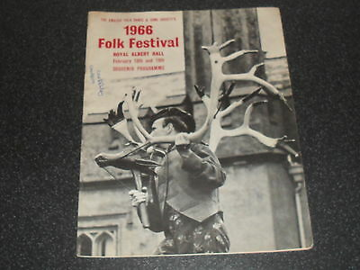 Old Folk Festival Programme Brochure 1966 Royal Albert Hall Rare item