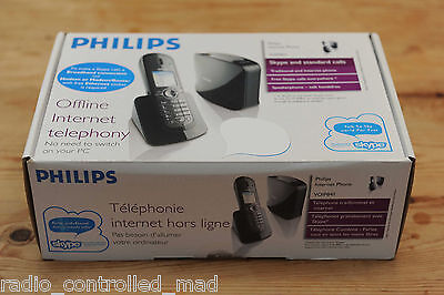 Philips VOIP841 PC-Free DECT 6.0 Wireles IP Dual Home Landline & Skype Phone