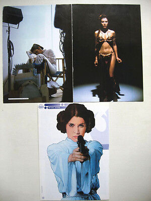 Carrie Fisher Princesse Leia : 3 Photos Issues De Magazines / Presse Star Wars