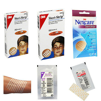 Steri Strip Reinforced Adhesive Skin Wound Closure First Aid Kit Nexcare Assort.