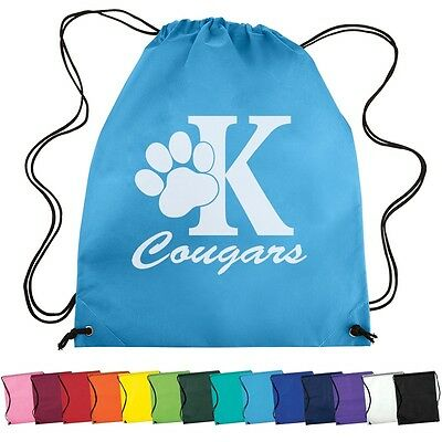 Drawstring Backpacks Custom Printed With Your Logo or Message- 150 quantity