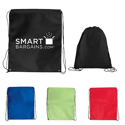 JUMBO Drawstring Backpacks Custom Printed With Your Logo or Message-300 quantity
