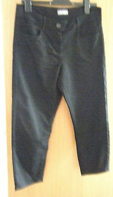 M&s Black Cropped Jeggings Jeans  Size 14 Vgc