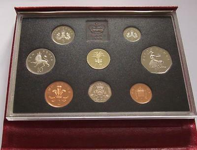1990 Royal Mint Proof Red Deluxe 8 coin set with COA