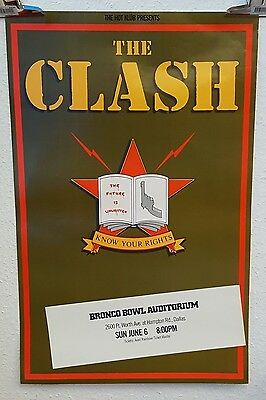 The Clash Know your rights Casbah Club tour poster 1982