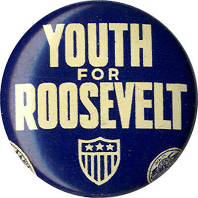 1940 Election YOUTH FOR Franklin ROOSEVELT Campaign Button (5261)