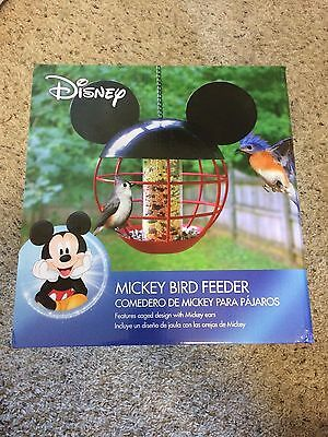 NEW NIB Metal cage style  Disney Mickey Mouse Hanging Bird Feeder with Chain New