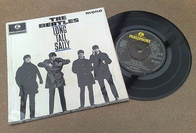 "Beatles "" Long Tall Sally "" Superb Rare Early 70's Uk Ep Gramophone Co Rim Text"