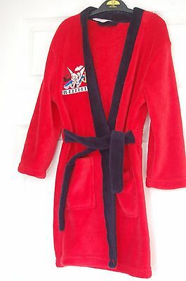 Disney Fairies Tinkerbell Dressing Gown/Robe Age 5-6 Red & Navy