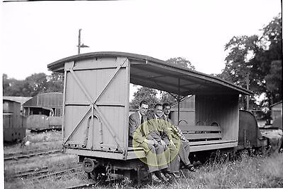 MONO LARGE NEGATIVE LODGE HILL & UPNOR RAILWAY CHATTENDEN KENT 1950s