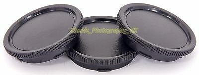 Set of THREE Leica M-System Body Caps for Leica M9 M8 M3 Leica M6 M5 M4 Leica CL