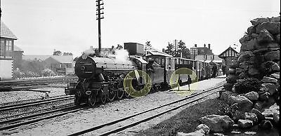 MONO LARGE NEG ROMNEY HYTHE & DYMCHURCH NARROW GAUGE RAILWAY KENT 1920s