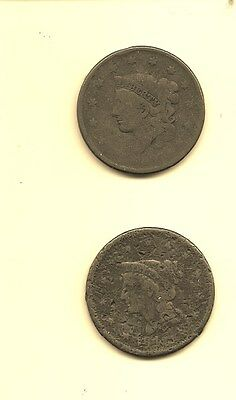United States Large Cent - Neither Date  Legible