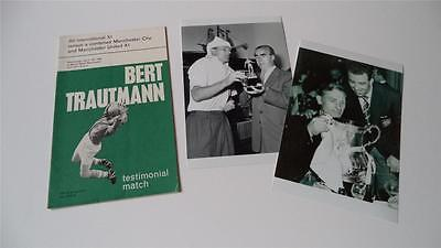 Manchester City Fc Legend Bert Trautmann 1964 Testimonial Programme & Photos
