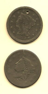 United States Large Cent - Date 1854 And Other Not Legible
