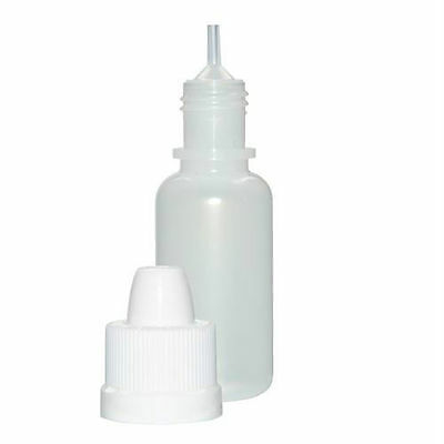 15 ml (1/2 oz) Plastic Dropper Bottles w/Child-Resistant Caps (Lot of 50)