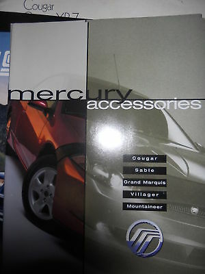 2001 Mercury Cougar Sable Mountaineer Accessories Catal
