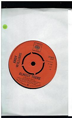 Andy Williams Almost There 45 Cbs 1965